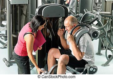 trainer, persönlich, trainieren, fälliger mann