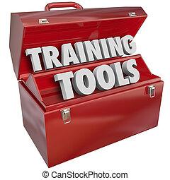 training, erfolg, fähigkeiten, lernen, neu , werkzeugkasten, werkzeuge, rotes