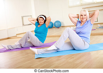 Training im Fitnessstudio.