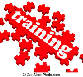 Trainings-Puzzle zeigt Business Coaching.