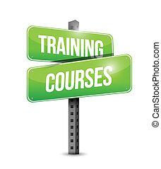 Trainingskursen Road Sign Illustration Design.