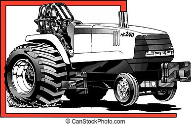 Traktor in Aktion.
