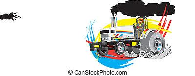 Traktor zieht Vektor