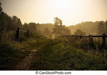 Tranquil Englischer Fußweg.