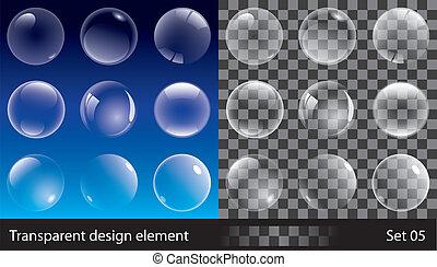 Transparente Blasen