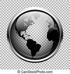 Transparenter Globus