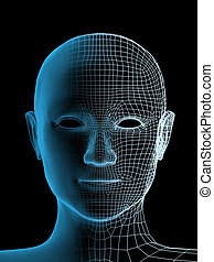 Transparenter Kopf der Person