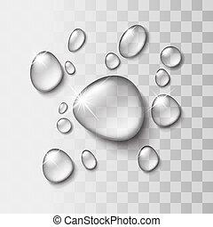 Transparenter Wassertropfen