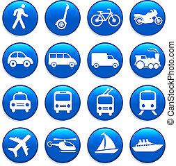 Transport Icons Designelemente.