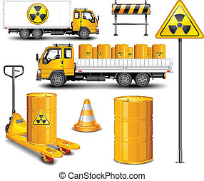 Transport mit radioaktivem Abfall