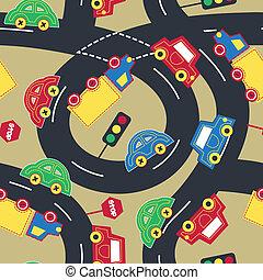 Transport und Verkehr nahtlos.
