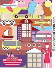 Transportvektor Illustration