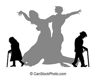 Traum, der Tanzpartner zu sein
