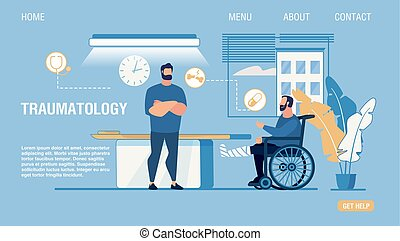 traumatology, seite, zentrieren, wohnung, medizin, landung