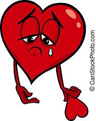 Traurige Liebes-Zeichen-Illustration