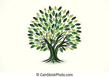Tree Ökologie-Vektor-Logo.