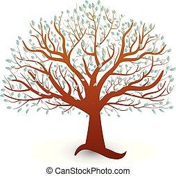 Tree Ökologie Vektorlogo.