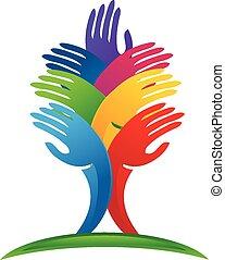 Tree hands Logo Vektor.