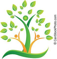 Tree mit abstrakten Leuten Logo.