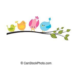 Tree mit Vögeln.