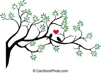 Tree Silhouette mit Vogel