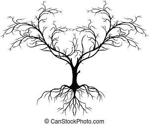 Tree Silhouette ohne Blatt