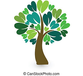 Tree stilisierte Identitätskarte Logo.