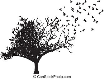 Tree Vogelart Vektor