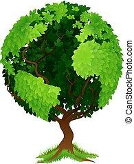 Tree World Globe Earth Konzept.