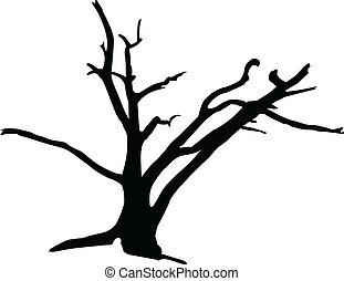 Tree3 Vektor Silhouettes