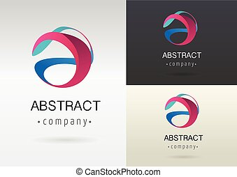 Trendiges abstraktes, lebendiges und buntes Icon, Element.
