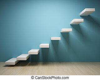 Treppe abfahren