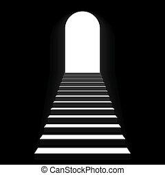 Treppe zum Bogenschießen