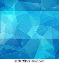 Triangularer Stil, blauer abstrakter Hintergrund