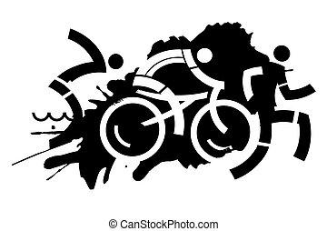 Triathlon grunge Motiv