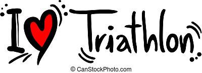 Triathlon-Liebe.