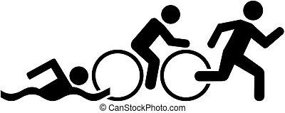 Triathlon Piktogramm.