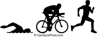 Triathlon Silhouetten.