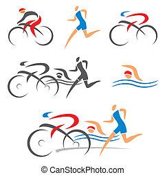 Triathlon zykling fitness Ikonen