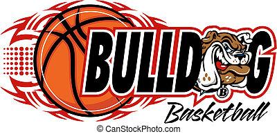 Tribal Basketball mit Bulldog.
