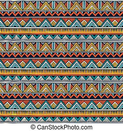 Tribal nahtlos. Farbiger abstrakter Vektorhintergrund.