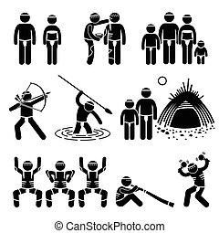 Tribe einheimische Aboriginal