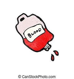 Trickfilmtasche voller Blut