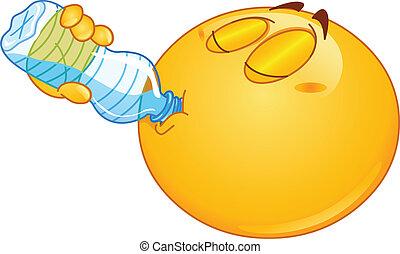 Trinke Wasser-Emoticon