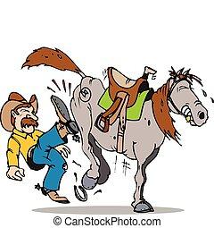 Tritt das Pferd