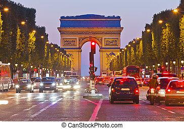 Triumphbogen, Paris, france