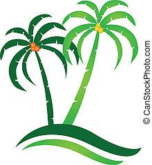 Tropical Island Logo Vektor.