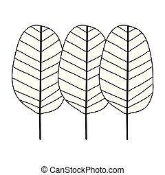 Tropische Blätter Symbole der Ökologie