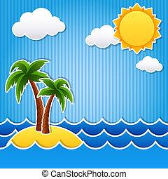 Tropische Insel.