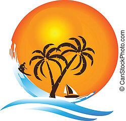 Tropische Inselparadies-Logo